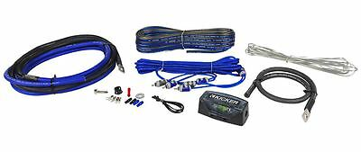 Kicker CK4 4 AWG Gauge Car Amp Installation Kit OFC Wires - 100 % Copper New