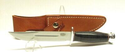 "Bark River Knives Boone II, CPM-3V, Black Stacked Leather, 6"" Blade, Hike, Camp"