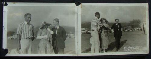 (2) 1929 Duke Kahanamoku Charley Paddock & Wife Honolulu TH Hawaii 4 1/2 x 6 1/2