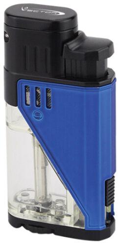 Blue Rubber Matte Vector Twister Dual Flame Jet Torch Cigar Butane Lighter 9311