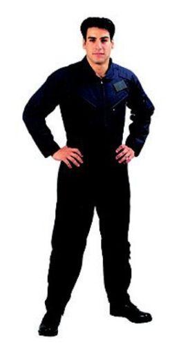 Rothco 7502 Mens Black Flight Suit 5 Zippered Pockets Adjustable Waist /& Cuffs
