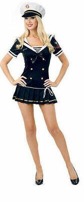 Charades 02026 Sexy Navy Brat Costume Blue Adult Officer Ladies Dress SZ XL - Navy Brat Costume