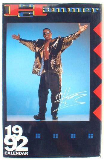 MC HAMMER 2020 Photo Calendar 1992 Calendar reusable in year 2020 NEW SEALED!