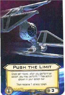 "Star Wars: X-Wing Miniatures - ""Push the Limit"" Alternate Art Promo Karte *NEU*"