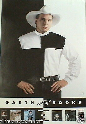 """GARTH BROOKS """"THE CHASE"""" U.S. PROMO POSTER - Country Music Superstar"""