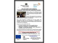 Hospitality Level 3 - Free course/ Funded by Skills Funding Agency