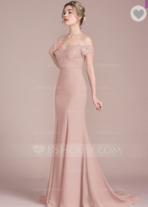 Sz12- DUSTY ROSE BRIDESMAID / PROM DRESS FOR SALE