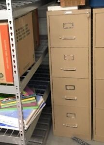 4 Drawer Letter Size Vertical File Cabinet