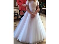 Communion dress/shoes/veil/tiara