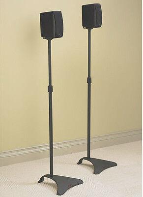 Atlantic Adjustable Height Satellite Speaker Stand Pair In Titanium Spscur47 New