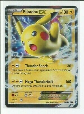 PIKACHU EX XY174 Holo Ultra Rare Black Star Promo Pokemon Cards Near Mint