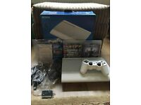 PS3 super slim white 500gb console with 2 games