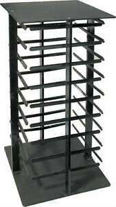 Earring Display Stand Revolving Black Acrylic Rotating Holds 144 Cards