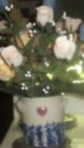 """7 """" CROC  with Heart---Vintage--+ Tulips--$25."""