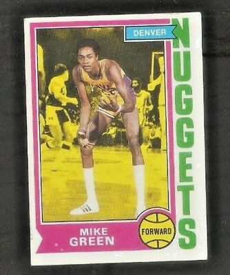 1974-75 BASKETBALL CARD #254 MIKE GREEN DENVER NUGGETS ABA  for sale  Lombard