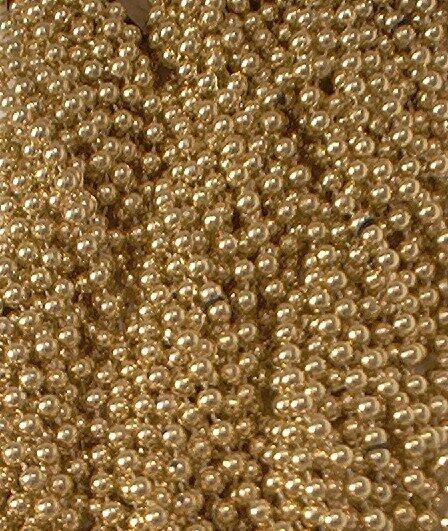 72 Gold Mardi Gras Gra Beads Necklaces Party Favors 6 Dozen Lot