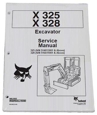 Bobcat 325 328 Compact Excavator Service Manual Shop Repair Book 3 Pn 6900462