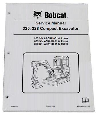 Bobcat 325 328 Compact Excavator Service Manual Shop Repair Book 6 Pn 6986940
