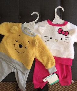 Ensembles 0-3 mois (haut et bas) Hello Kitty et Winnie the Poo