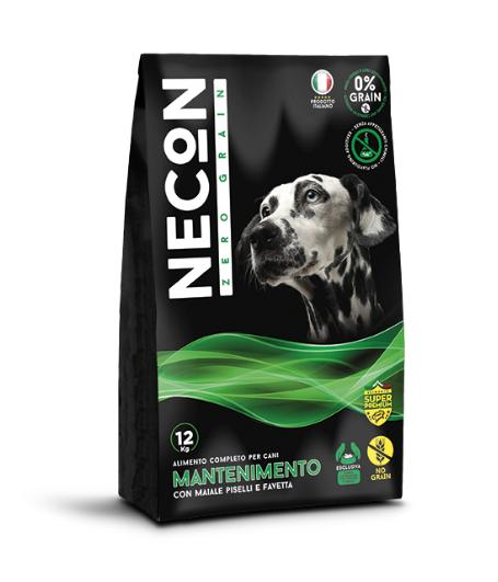 Cibo per cani 12 Kg senza cereali mantenimento con maiale, piselli e favetta