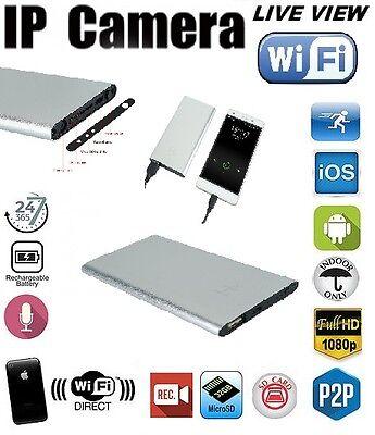 WIFI Spy Hidden Camera Power Bank Turbulence Detection Night Vision 1080P DVR SILVER
