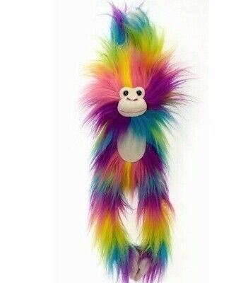 Shaggimals Shaggy Monkey Rainbow Plush. Soft Fuzzy Toy 20