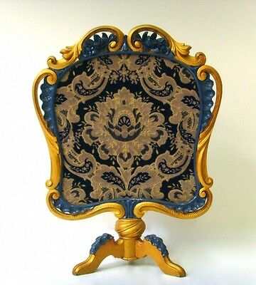 Exclusive French Antique Fireplace screen louis XVI embroidery