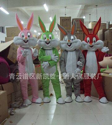 Easter bugs Bunny Rabbit monkey fancy Mascot Cartoon Costume Adult Fancy Party - Bugs Bunny Adult Costume