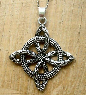 - Witches Protection Knot necklace pendant + gift Box Celtic Amulet Wicca Talisman