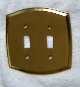 Beautiful Vintage Solid Brass Toggle Switch Decorative Plates