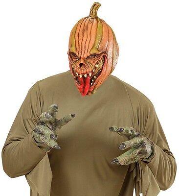Evil Pumpkin Scary Halloween Fancy Dress Latex 3/4 Face Mask](Halloween Scary Pumpkins Faces)