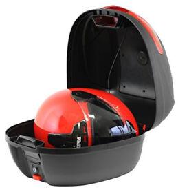 Ryde 32l Matt Black Motorcycle Helmet Top Box with Built In LED Light