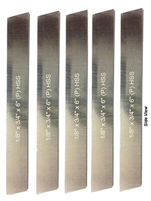 Set Of 5 Hss Blades18x 34 Wide X 6 Long Parting Or Cut Off Tool Holder