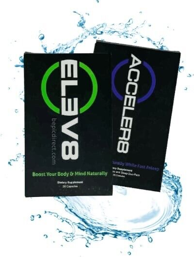 BEpic Elev8 (30 caps) & Acceler8 (60 caps) Free Same Day Shipping! Brand New