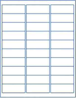 750 Labels White Blank 1 X 2-58 Sticker Shipping Mailing 30up Made In Usa