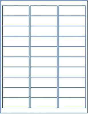 750 Labels 1 X 2.62 Shipping Mailing Address 2.625 Blank Id Label White