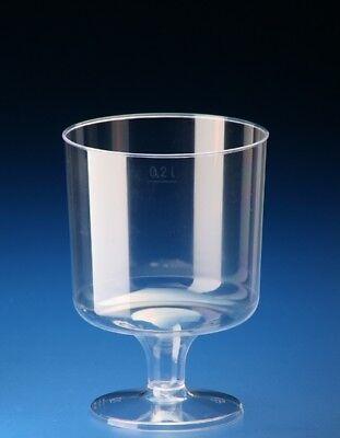 Weinglas 0,2l Plastik PP klar