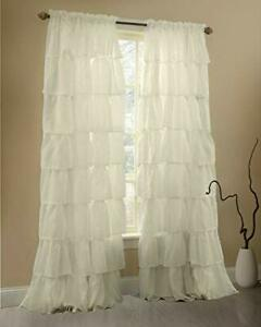 FREE Ugly, frilly, poofy, froofy sheer and lace curtains WANTED