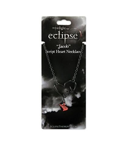 THE TWILIGHT SAGE ECLIPSE JACOB SCRIPT HEART NECKLACE NEW FROM 2010