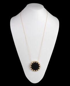 House-of-Harlow-1960-Black-Sunburst-Gold-Pendant-Necklace