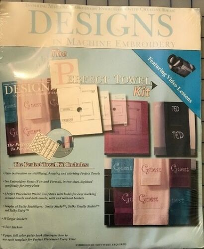 Designs in Machine Embroidery - The Perfect Towel Kit - fonts, templates, CD ROM