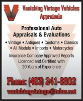 Vanishing Vintage Vehicles Appraisals