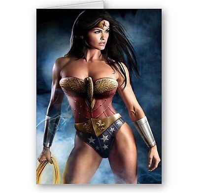 Wonder Woman, A5, Happy Birthday, Christmas Card