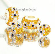 Crystal European Charm Beads
