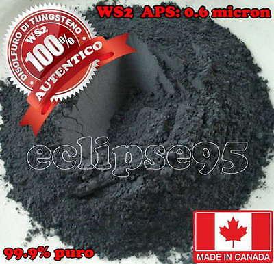 Disolfuro di Tungsteno, WS2, Additivo olio, Tungsten Disulfide  5 gr.