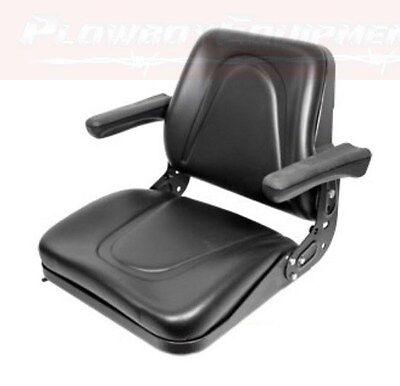 Universal Tractor Seat W Slide Tracks T500bl For Kubota Ford Case Ih John Deere