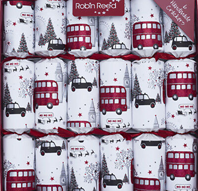 Robin Reed H8 Holiday 6pc 12in Themed Crackers London Christmas Sights 61822 ()