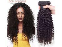 Mink Brazilian kinky, curly virgin hair extensions - 3 bundles - 12''