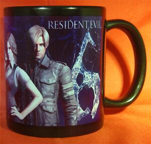 RESIDENT-EVIL-6-Coffee-MUG-CUP-RE6-Biohazard-Leon-Chris-Jake