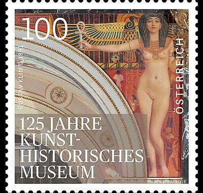 Gustav Klimt Mural Museum KHM 125 years mnh stamp 2016 Austria nude #2601